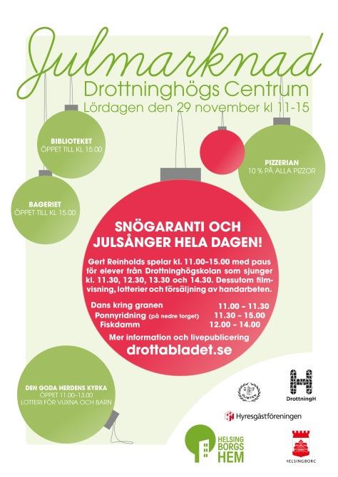 Affisch om julmarknaden