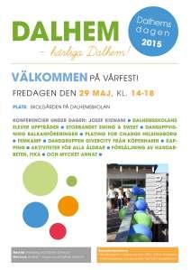 Affisch Dalhemsdagen 2015