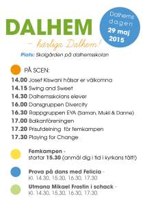 Affisch med programpunkter - Dalhemsdagen 2015