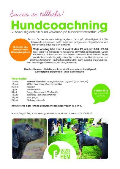 hundcoachning Fredriksdal 2016