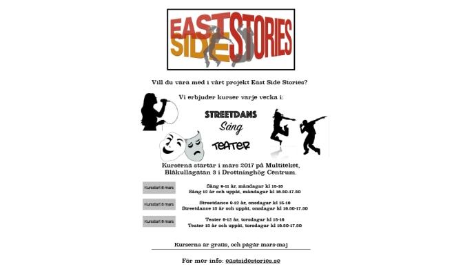 East Side Stories aktiviteter är igång!