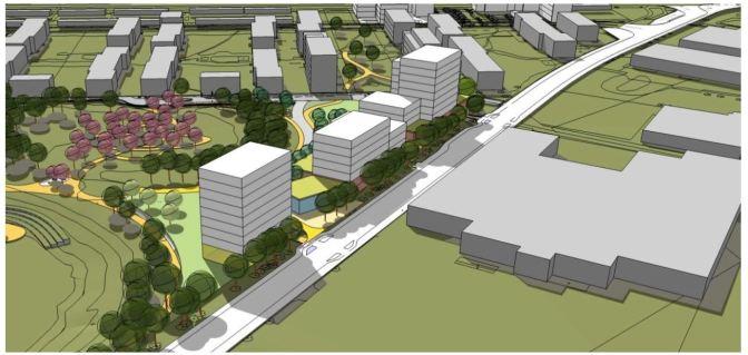 Nu påbörjas markarbeten för nya bostäder längs Regementsvägen