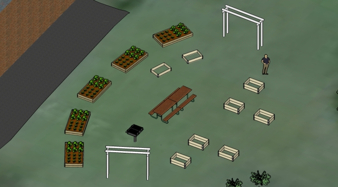 Byggfest! Fredriksdals nya odling