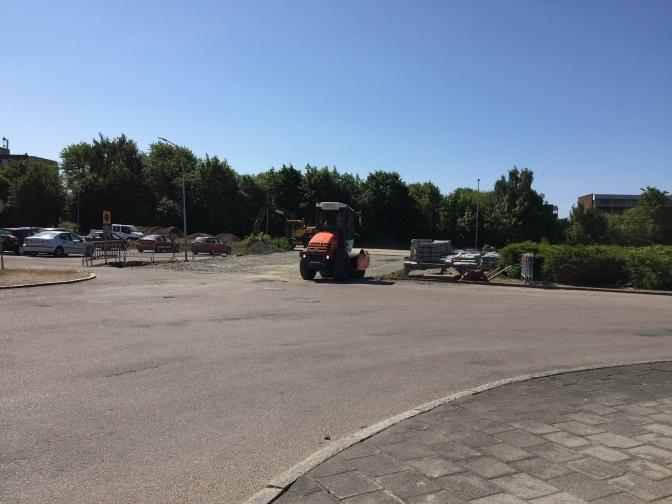 VA-omläggning Blåkullagatan och ny infart till Drottninghögs centrum