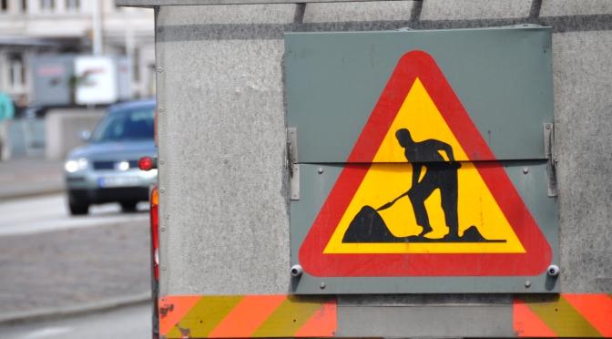 Va-arbeten i Regementsvägen